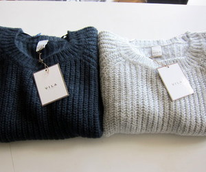 blue, grey, and sweater image