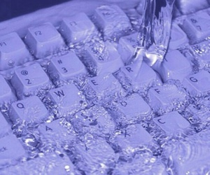 water, keyboard, and purple image