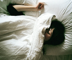 girl, bed, and vintage image