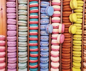 ‎macarons, food, and macaroons image