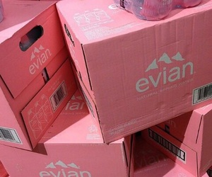 pink, evian, and pastel image