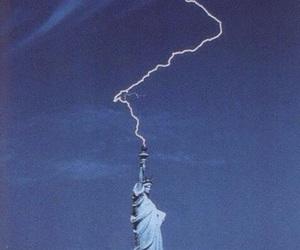 lightning, new york, and sky image