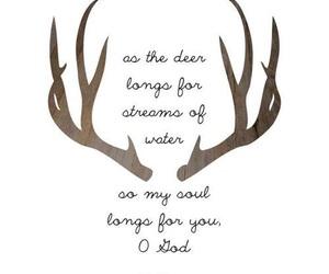 god and deer image