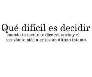 frases, difficult, and heart image
