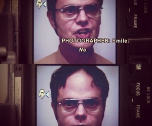 the office, smile, and dwight image