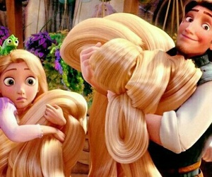 tangled, disney, and hair image