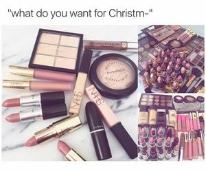 christmas and makeup image