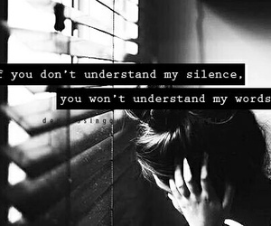 silence, quote, and words image