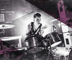 drum, crown the empire, and drummer image