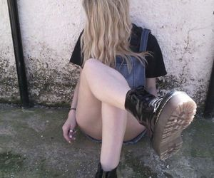 boots, haïr, and clothes image
