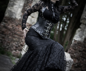 gothic, goth, and lace image