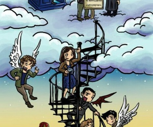 supernatural, doctor who, and Marvel image