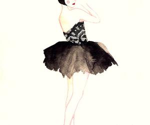 acuarela, cine, and dress image