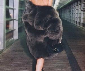 fashion, fur, and model image