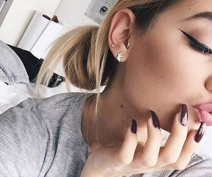 beauty, nails, and eyebrow image