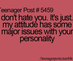 hate, personality, and quote image