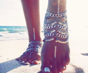 beach, jewel, and nails image