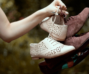 girl, oxfords, and shoes image