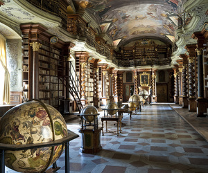 interior, library, and rich image
