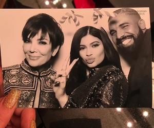 Drake, kylie jenner, and kris jenner image