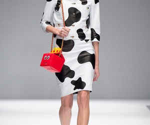 cow, Moschino, and runway image