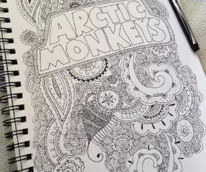arctic monkeys, art, and drawing image