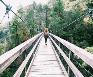girl, bridge, and explore image