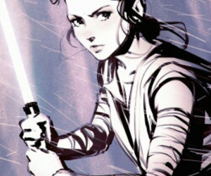 star wars, rey, and art image
