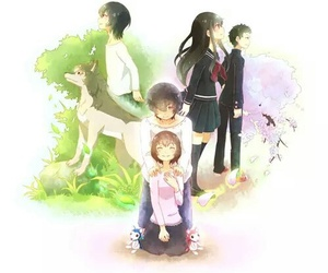 wolf children and anime image