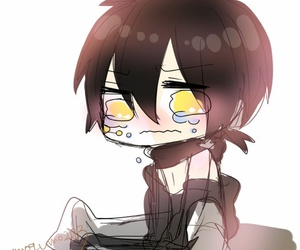 chibi, crying, and konoha image