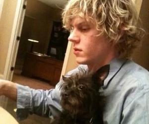 evan peters, dog, and ahs image