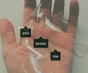 broken, sad, and broke image