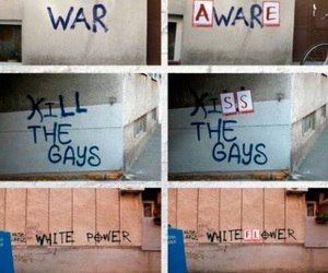 war, art, and flower image
