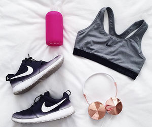 fitness, music, and outfit image