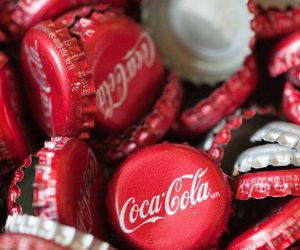 coca cola, red, and drink image
