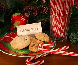 christmas, candy cane, and santa image