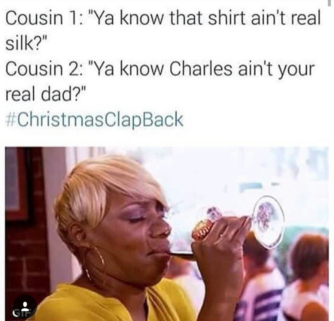 Christmas Clapbacks.Image About Funny In Lma By Keyanna On We Heart It