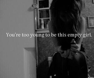 girl, empty, and sad image