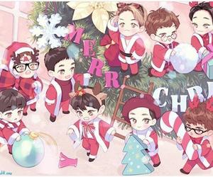 exo, fanart, and christmas image