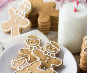 christmas, december, and gingerbread man image