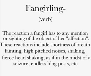 fangirl, definition, and one direction image