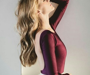 ballerina, hair, and red image