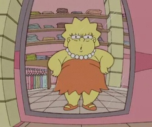 fat, lisa, and simpsons image