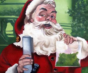 weed, marijuana, and christmas image