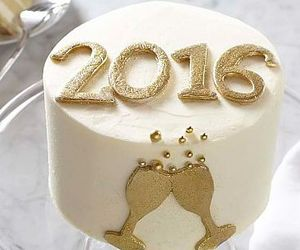 2016, cake, and new year image