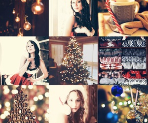 beauty, christmas, and Collage image