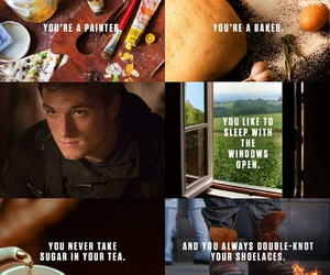 the hunger games, peeta, and thg image