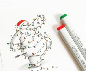 baymax, christmas, and big hero 6 image