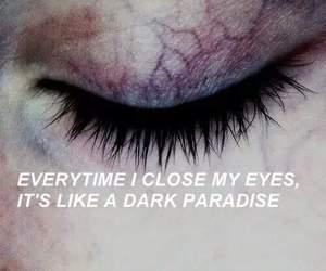 dark, eyes, and paradise image