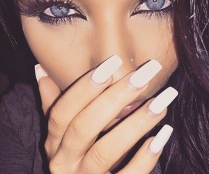 nails, eyes, and beauty image